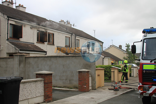 Drogheda Fire service and One unit from Dublin Fire service in Balbriggan attended a house fire in Julianstown, there was nobody injured in the fire and the appliances were detained for a number of hours..Picture Fran Caffrey/www.newsfile.ie