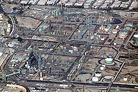 aerial photograph refinery Los Angeles, California