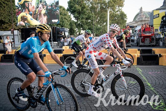 Polka Dot Jersey / KOM leader Romain Bardet (FRA/AG2R-LaMondiale) on the Champs-Élysées after finishing the Tour<br /> <br /> Stage 21: Rambouillet to Paris(128km)<br /> 106th Tour de France 2019 (2.UWT)<br /> <br /> ©kramon