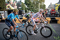 Polka Dot Jersey / KOM leader Romain Bardet (FRA/AG2R-LaMondiale) on the Champs-Élysées after finishing the Tour<br /> <br /> Stage 21: Rambouillet to Paris (128km)<br /> 106th Tour de France 2019 (2.UWT)<br /> <br /> ©kramon