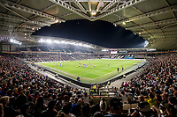Picture by Allan McKenzie/SWpix.com - 19/04/2018 - Rugby League - Betfred Super League - Hull FC v Leeds Rhinos - KC Stadium, Kingston upon Hull, England - A general view of Hull FC playing Leeds at the KCom stadium.