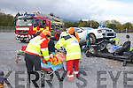 RESCUE: The accident and rescue simulation organized the Kerry Irish Red .Cross as part of the Transforming EMS in Ireland seminar at the Carlton .hotel, Tralee on Saturday..