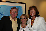 """OLTL's Jerry verDorn """"Clint Buchanan"""" poses with  Hillary B. Smith """"Nora"""" and Wendy Madore (Jerry's fan club president) at the One Life To Live Fan Club Luncheon on August 16, 2008 at the New York Marriott Marquis, New York, New York.  (Photo by Sue Coflin/Max Photos)"""