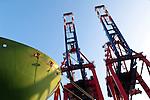 Hamburg-Germany - May 04, 2013 -- Port of Hamburg / harbour: container cranes at HHLA, Hamburger Hafen und Logistik Aktiengesellschaft, Infrastructure -- Photo: © HorstWagner.eu
