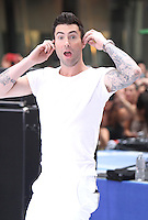 June 29, 2012 Adam Levine of Maroon 5 performs at Toyota Concert Series on NBC's Today Show in New York City. &copy; RW/MediaPunch Inc. *NORTEPHOTO.COM*<br />