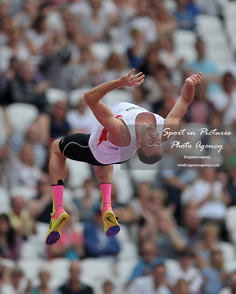Dominik DISTELBERGER (AUT) does a somersault to celebrate in the mens decathlon pole vault. IAAF world athletics championships. London Olympic stadium. Queen Elizabeth Olympic park. Stratford. London. UK. 12/08/2017. ~ MANDATORY CREDIT Garry Bowden/SIPPA - NO UNAUTHORISED USE - +44 7837 394578