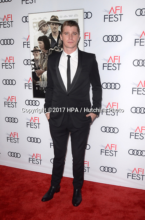 """LOS ANGELES - NOV 9:  Garrett Hedlund at the """"Mudbound"""" Opening Gala of AFI Fest 2017 at the TCL Chinese Theater IMAX on November 9, 2017 in Los Angeles, CA"""