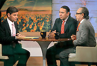 June 21, 2012 Marcus Santos, New York Daily News photographer,  with attorney Sanford Rubenstein at Good Morning America discussing his unprovoked run-in with actor Alec Baldwin in New York City. © RW/MediaPunch Inc. NORTEPOTO.COM<br />