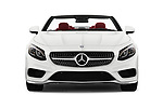 Car photography straight front view of a 2017 Mercedes Benz S-Class S550 2 Door Convertible Front View