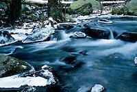 ICE&amp; WATER, FROST &amp; SNOW<br /> Ice in stream<br /> Harriman State Park, NY