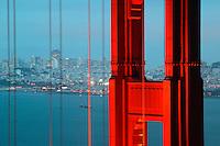The Golden Gate Bridge in the evening, San Francisco, California