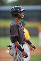 AZL Giants Black Jean Pena (41) stands on third base during an Arizona League game against the AZL Athletics Gold on July 12, 2019 at Hohokam Stadium in Mesa, Arizona. The AZL Giants Black defeated the AZL Athletics Gold 9-7. (Zachary Lucy/Four Seam Images)