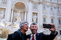 Anna Paola Concia e Ivan Scalfarotto<br /> Roma 11-05-2016. Fontana di Trevi. Festeggiamenti per l'approvazione del DDL sulle Unioni Civili. Per l'occasione la Fontana di Trevi e' stata illuminata con i colori arcobaleno, simbolo della comunità' LGBT.<br /> Rome 11th May 2016. Trevi Fountain. Celebration for the approval of the Law on Civil Unions. For the occasion, Trevi Fountain has been lighted with the rainbow colors of the LGBT flag.<br /> Photo Samantha Zucchi Insidefoto