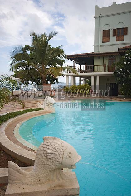 Afrique/Afrique de l'Est/Tanzanie/Zanzibar/Ile Unguja/Stone Town: l'Hotel Zanzibar Serena Inn - la piscine