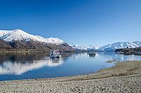 Lake Wanaka, Winter, Southern Lakes, New Zealand - stock photo, canvas, fine art print