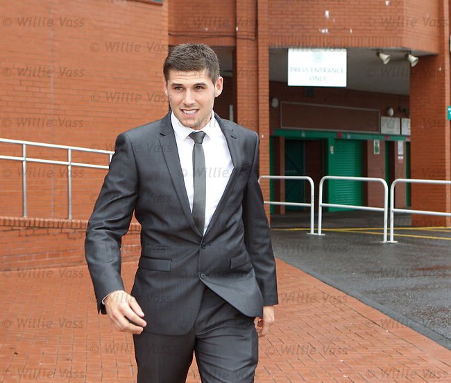 Gary Hooper leaves Celtic Park for his medical at Ross Hall hospital as signing talks continue with the Scunthorpe striker
