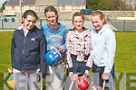 Taking part in The Camogie Fun Day at Listowel Emmet's GAA ground on Saturday were Olivia Quirke-McFarlane, Lisa Walsh, Shannon Diggin and Shonagh McGlynn...   Copyright Kerry's Eye 2008