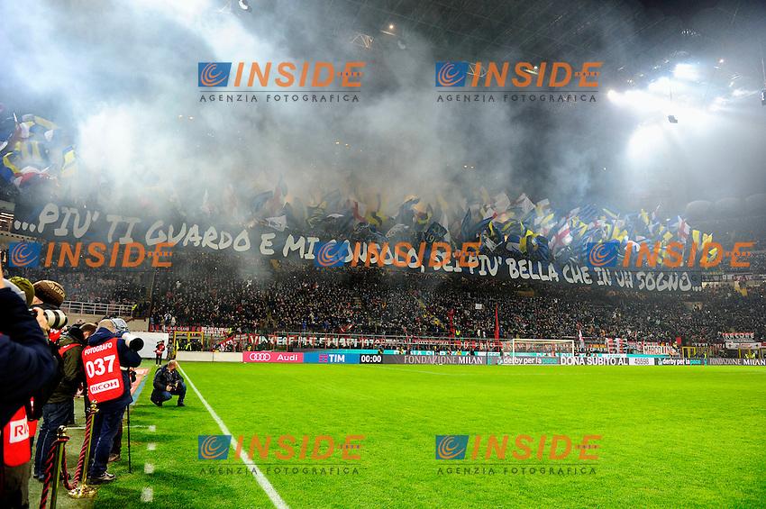 Coreografia tifosi Inter<br /> Milano 31-01-2016 Stadio Giuseppe Meazza - Football Calcio Serie A Milan - Inter. Foto Giuseppe Celeste / Insidefoto