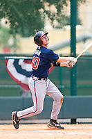 David Rohm of the Gulf Coast League Braves during the game against the Gulf Coast League Tigers July 3 2010 at the Disney Wide World of Sports in Orlando, Florida.  Photo By Scott Jontes/Four Seam Images