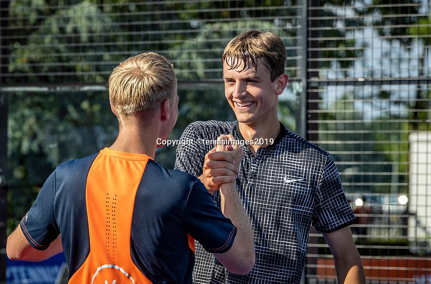 Rosmalen, Netherlands, 15 June, 2019, Tennis, Libema Open, NK Padel, Final mens double: Victor van Ruissen and Berend Boers (NED) Winners with trophy<br /> Photo: Henk Koster/tennisimages.com