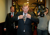 09/05/2007 .Fine Gael leader Enda Kenny .Labour TD Liz McManus.General Secretary at the INO Liam Doran..during the Annual Conference of the Irish Medical Organisation At Jury's Ballsbridge, Dublin..Photo: COLLINS .