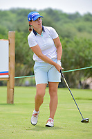 Karine Icher (FRA) watches her tee shot on 9 during round 2 of  the Volunteers of America Texas Shootout Presented by JTBC, at the Las Colinas Country Club in Irving, Texas, USA. 4/28/2017.<br /> Picture: Golffile | Ken Murray<br /> <br /> <br /> All photo usage must carry mandatory copyright credit (&copy; Golffile | Ken Murray)