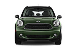 Car photography straight front view of a 2015 MINI Countryman Base 4 Door Hatchback Front View