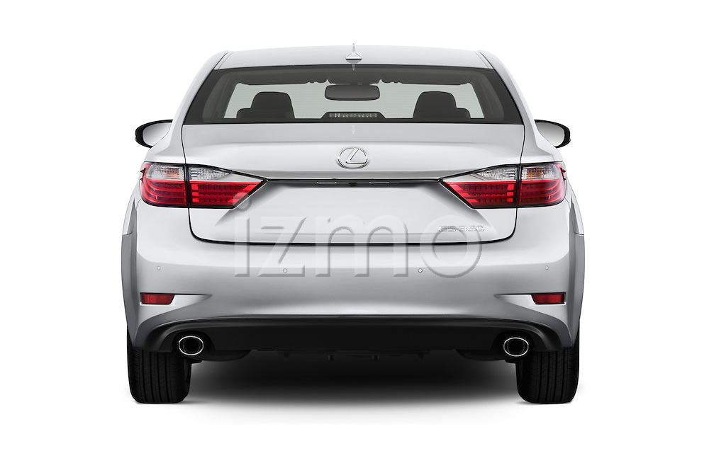 Straight rear view of a 2013 Lexus ES 350