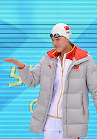 August 01, 2012..Yi Tang arrives to compete in Women's 100m Freestyle Semifinal at the Aquatics Center on day five of 2012 Olympic Games in London, United Kingdom.