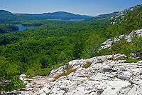 White quartzite rock of the La Cloche Hills at O.S.A. Lake<br /> Killarney Provincial Park<br /> Ontario<br /> Canada