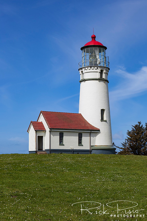 Cape Blanco Lighthouse sits along the Oregon coast north of the town of Port Orford.