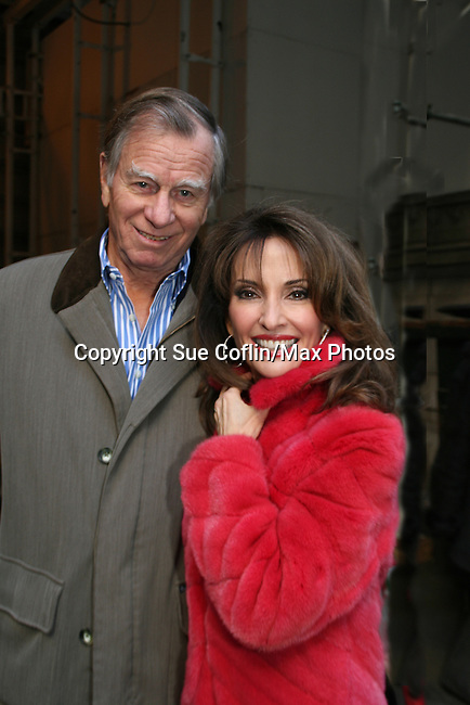 Susan Lucci (All My Children) and husband Helmut after The Heart Truth's Red Dress Collection 2009 Fashion Show which raises awareness that heart disease is the #1 killer of women was held during Mercedes -Benz Fashion Week New York Fall 09 on February 13, 2009 in Bryant Park, New York City, NY. This event unites with America's top designers to showcase a colleciton of one-of-a-kind Red Dresses. (Photo by Sue Coflin/Max Photos)