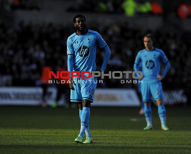 Tottenham Hotspur's Emmanuel Adebayor -   19/01/2014 - SPORT - FOOTBALL - Liberty Stadium - Swansea - Swansea City v Tottenham Hotspur - Barclays Premier League<br /> Foto nph / Meredith<br /> <br /> ***** OUT OF UK *****