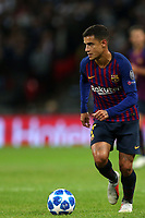 Philippe Coutinho of FC Barcelona during Tottenham Hotspur vs FC Barcelona, UEFA Champions League Football at Wembley Stadium on 3rd October 2018
