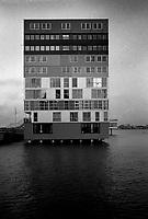 The Silodam apartments building in Amsterdam designed by MVRDV (Netherlands, 24/07/2003)