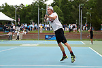 CHAPEL HILL, NC - MAY 13: South Carolina's Andrew Schafer. The University of North Carolina Tar Heels hosted the University of South Carolina Gamecocks on May 13, 2017, at The Cone-Kenfield Tennis Center in Chapel Hill, NC in an NCAA Division I Men's College Tennis Tournament second round match. UNC won 4-1.