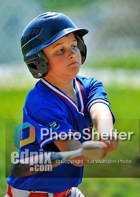 26 May 2012: The Burlington American Expos in Little League action against the Burlington American Reds at Calahan Park in Burlington, Vermont. Mandatory Credit: Ed Wolfstein Photo