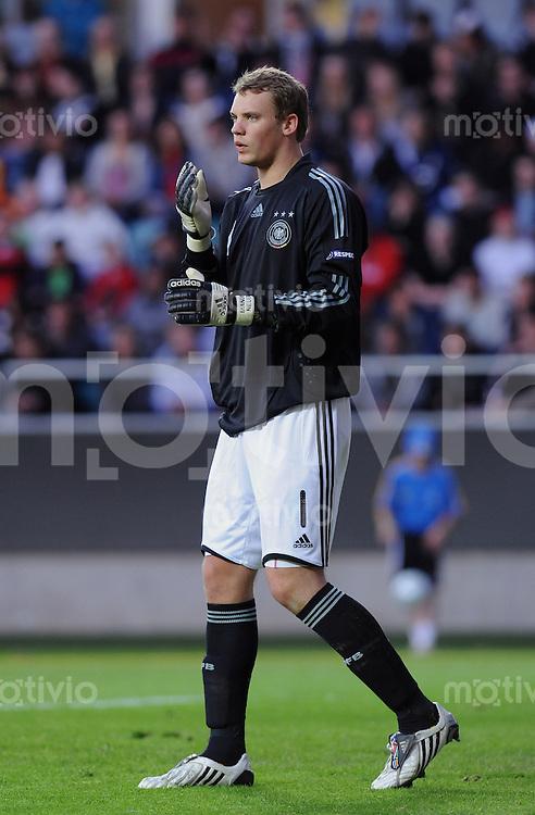 Fussball  International U 21 Europameisterschaft 2009 Spanien - Deutschland Torwart Manuel Neuer (GER)