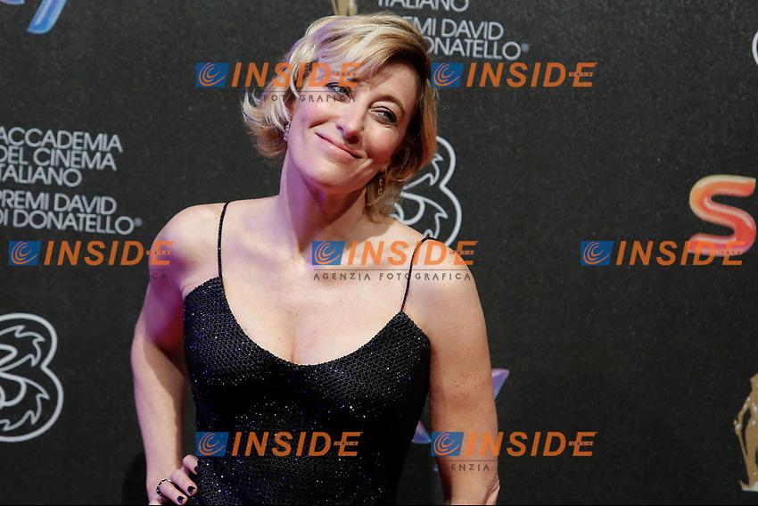 Valeria Bruni Tedeschi<br /> Roma 27-03-2017. Premio David di Donatello 2017.<br /> Rome March 27th 2017. David di Donatello ceremony 2017. <br /> Foto Samantha Zucchi Insidefoto