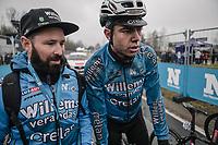 Wout Van Aert (BEL/Veranda's Willems - Crelan) post race. <br /> <br /> 73th Dwars Door Vlaanderen (1.UWT)<br /> 1day race: Roeselare › Waregem BEL (180km)