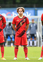Belgian Loic Masscho pictured during a friendly soccer game between the national teams Under19 Youth teams of Belgium and Germany on tuesday 8 th of September 2020  in Genk , Belgium . PHOTO SPORTPIX.BE | SPP | DAVID CATRY