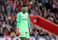 Manchester City's Ederson<br /> <br /> Photographer Rich Linley/CameraSport<br /> <br /> The Premier League - Liverpool v Manchester City - Sunday 7th October 2018 - Anfield - Liverpool<br /> <br /> World Copyright &copy; 2018 CameraSport. All rights reserved. 43 Linden Ave. Countesthorpe. Leicester. England. LE8 5PG - Tel: +44 (0) 116 277 4147 - admin@camerasport.com - www.camerasport.com