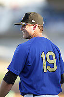 Eric Oliver of the Rancho Cucamonga Quakes during game against the Inland Empire 66'ers at The Epicenter in Rancho Cucamonga,California on August 7, 2010. Photo by Larry Goren/Four Seam Images