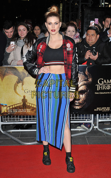 Ashley James attends the &quot;Game of Thrones : Hardhome&quot; season 5 special screening, Empire cinema, Leicester Square, London, UK, on Monday 14 March 2016.<br /> CAP/CAN<br /> &copy;Can Nguyen/Capital Pictures