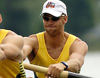 Poznan, POLAND.  2006, FISA, Rowing, World Cup, AUS M2-, bow  Drew GINN and Duncan FREE, moves  away from  the  start, on the Malta  Lake. Regatta Course, Poznan, Thurs. 15.05.2006. © Peter Spurrier   .[Mandatory Credit Peter Spurrier/ Intersport Images] Rowing Course:Malta Rowing Course, Poznan, POLAND