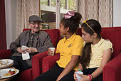 Community Champions monthly intergenerational session at Juniper House, with Queen's Park Primary pupils.