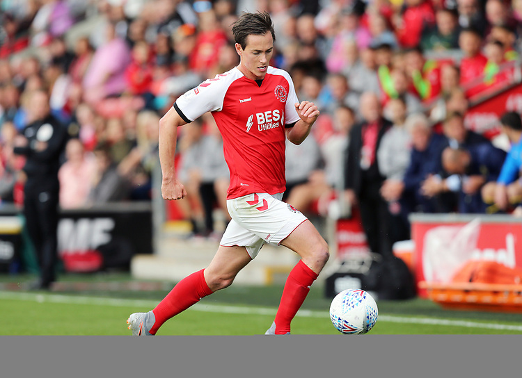 Fleetwood Town's Josh Morris<br /> <br /> Photographer Rich Linley/CameraSport<br /> <br /> The EFL Sky Bet League One - Fleetwood Town v Oxford United - Saturday 7th September 2019 - Highbury Stadium - Fleetwood<br /> <br /> World Copyright © 2019 CameraSport. All rights reserved. 43 Linden Ave. Countesthorpe. Leicester. England. LE8 5PG - Tel: +44 (0) 116 277 4147 - admin@camerasport.com - www.camerasport.com