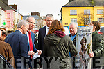 Listowel Protest: Lets Keep The Recovery Going protest in the Square, Listowel on Monday morning last on the visit of Tanaiste Simon Coveney.