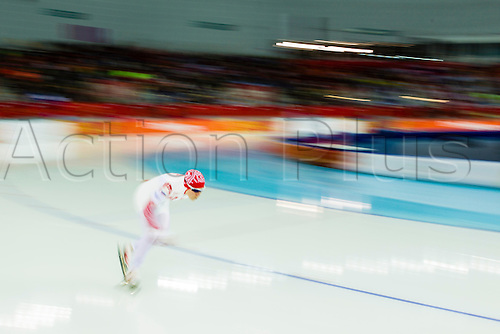 09.02.2014. Sochi, Krasnodar Krai, Russia.  Bronze medallist Olga GRAF (RUS) in action during the Women's 3000m Speed Skating at the Adler Arena Skating Centre - XXII Olympic Winter Games