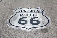 Route 66 Shield, on old route 66 in Litchfield Illinois.